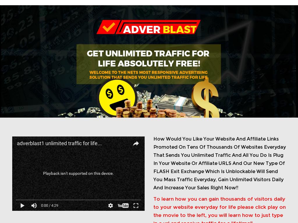 Adverblast Advertising Earn Up To $115 Through CB Per Customer