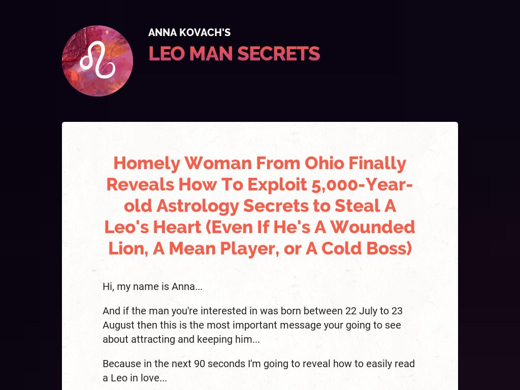 Leo Man Secrets: Zodiac Attraction And Seduction Guide