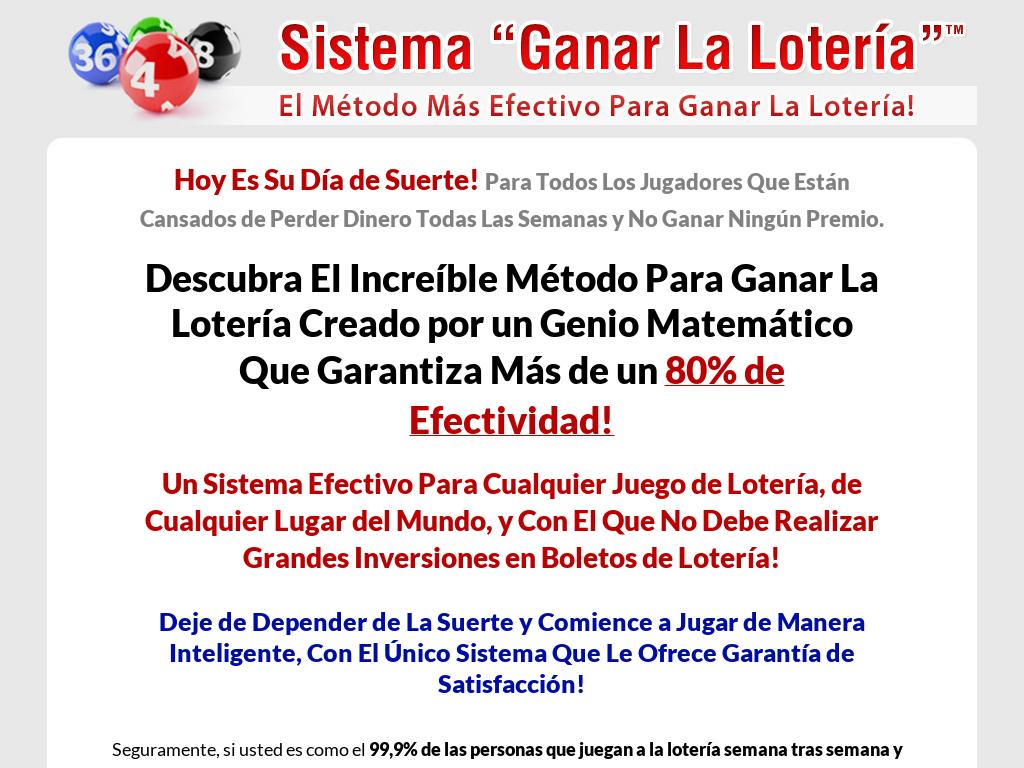 Sistema Ganar La Lotería  90% De Comisión