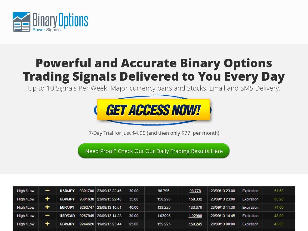 good binary options signal service