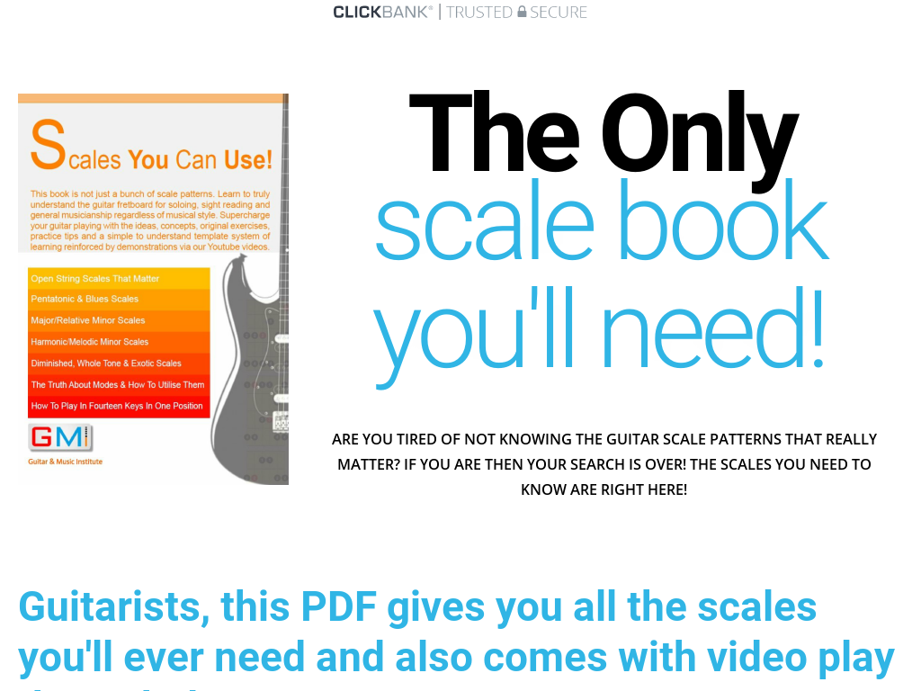 Scales You Can Use! The Ultimate Guitar Player Scale