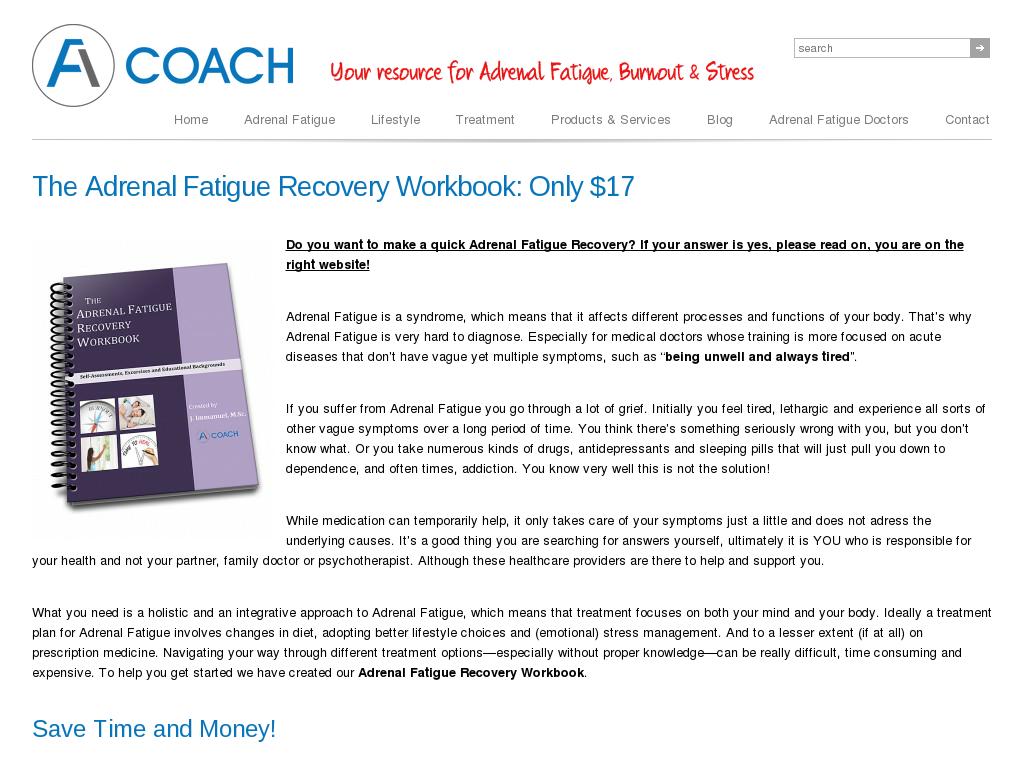 p e notes on fatigue recovery