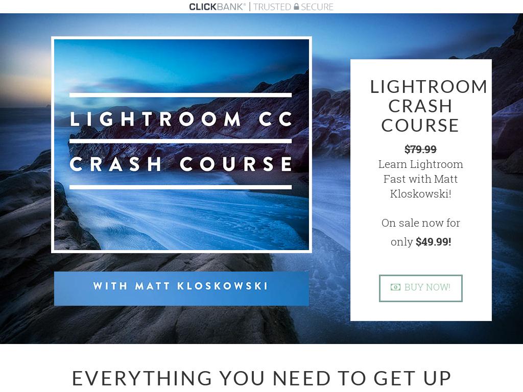 Lightroom Cc Crash Course