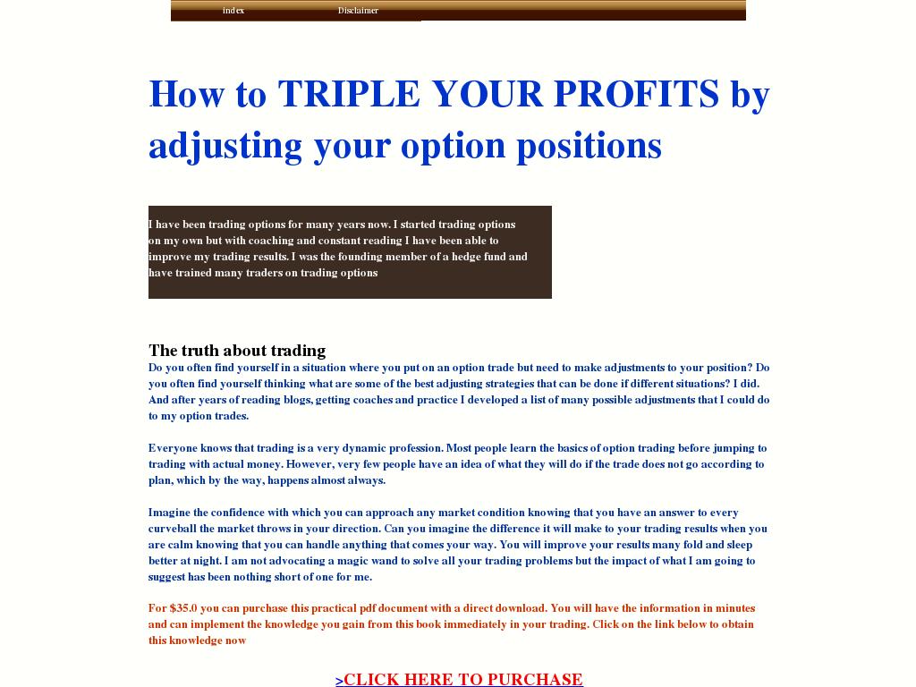 Option trading adjustment strategies