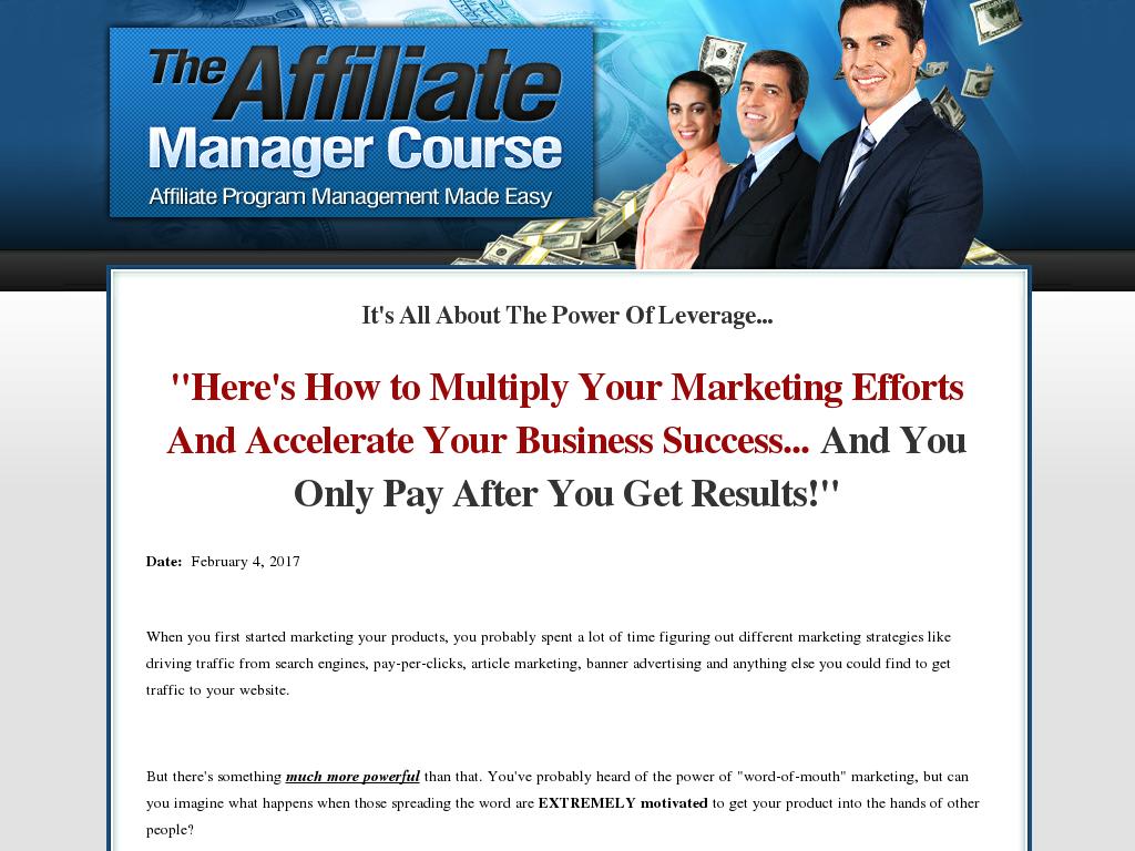 Affiliateprogram360 com - The Affiliate Managers Course