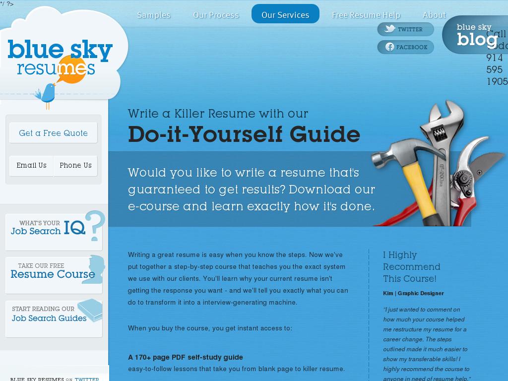 free resume writing tools