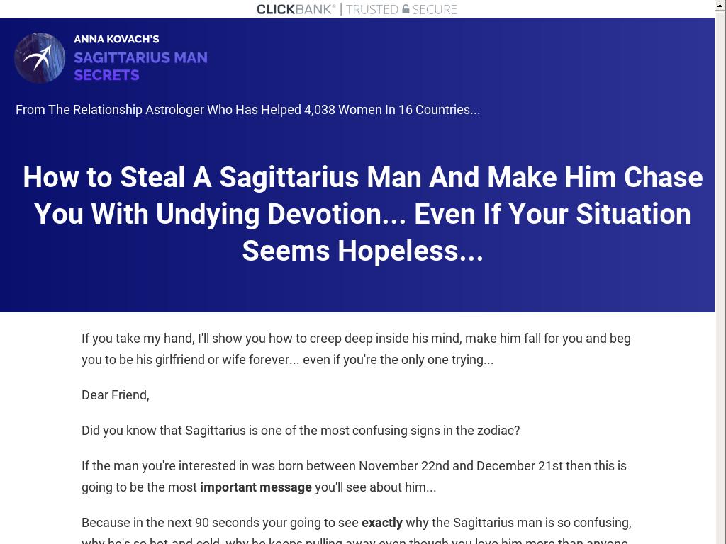 Sagittarius Man Secrets