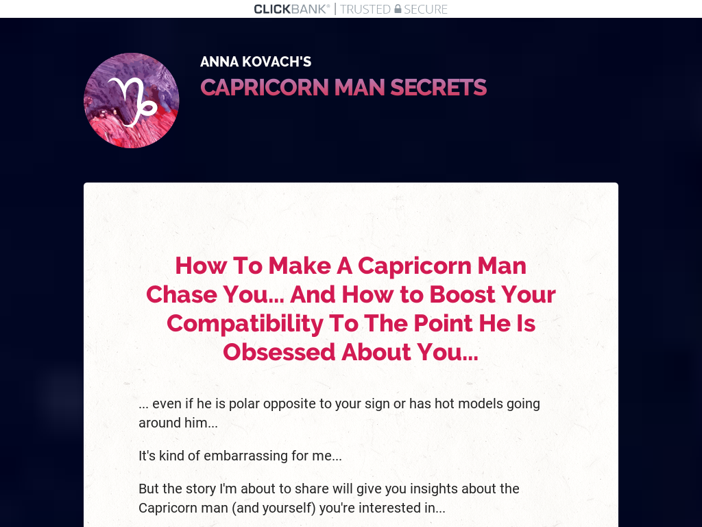 How To Get Capricorn Man To Hunt You