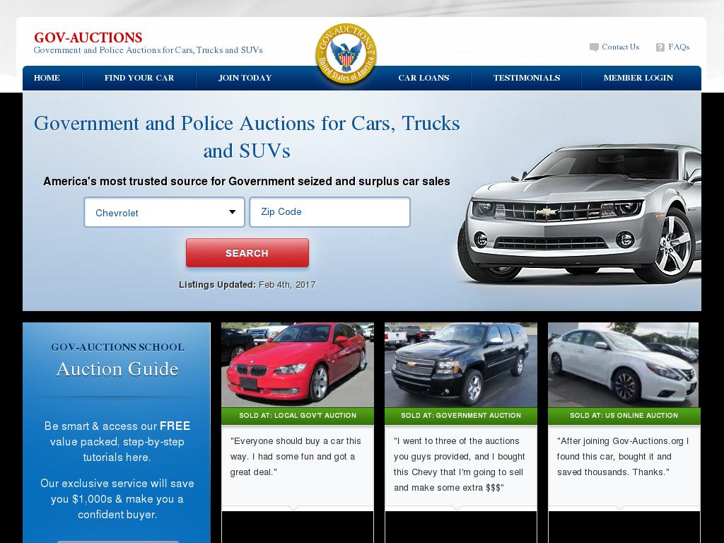 Www Gov Auctions