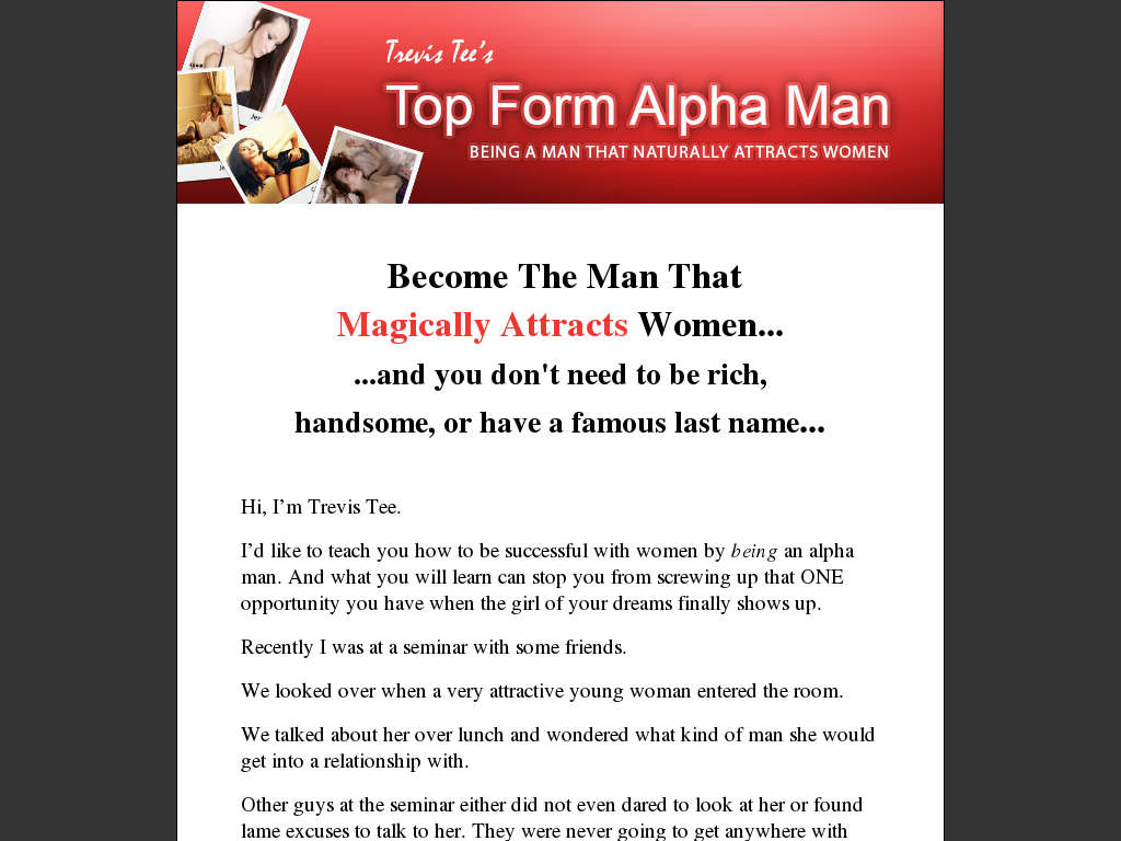 Alpha Male Dating tips