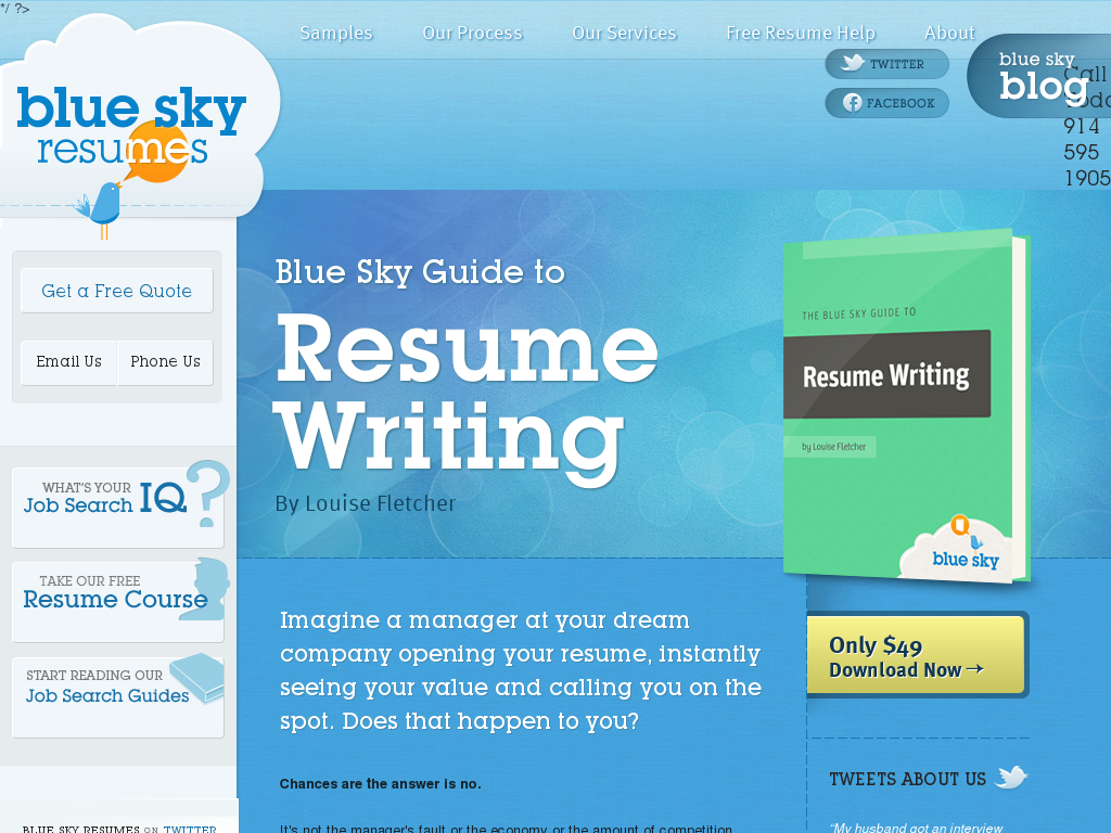 blue sky resumes We're a small team of resume writers  and job search experts based in the us .